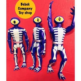 2007年 Scooby doo 卡通 史酷比 叔比狗 紫色 獨眼 怪物 關節可動 公仔 玩具 絕版玩具