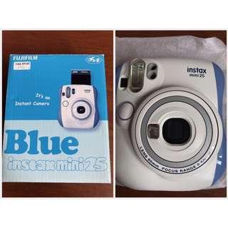 (100%NEW) 全新Fujifilm instax mini 25 藍白色 全新即影即有相機