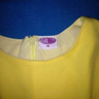 Yellow Dress From Little Miss