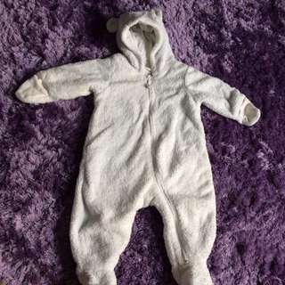 HnM One Piece Winter Cloth For Baby (3-6months)
