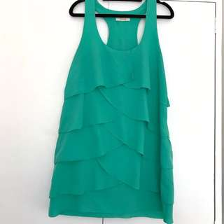 Layered Green Kenji Dress