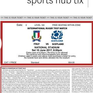 3 Tickets To England Vs Scotland Rugby Match