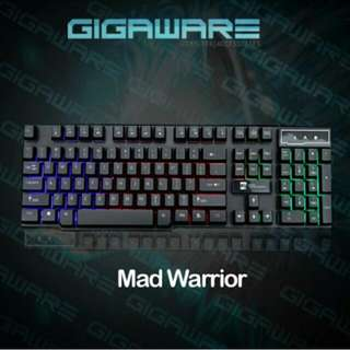 4 In 1Gigaware Gaming Bundle Salar Headset, Mad Warrior keyboard and Gaming Mouse w/ Free Extended Goliathus Mousepad Pre Order