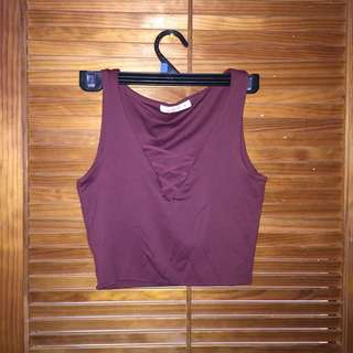 #thecafe Laced Crop