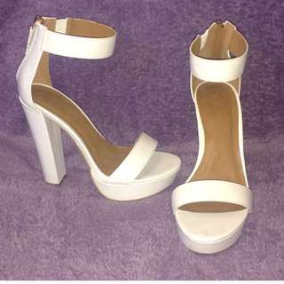 White Platform RubiShoes 38