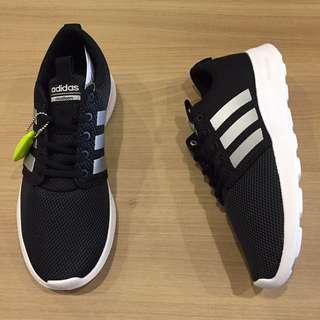 adidas cloudfoam swift racer 輕 黑 銀logo 全新 公司貨 大尺碼