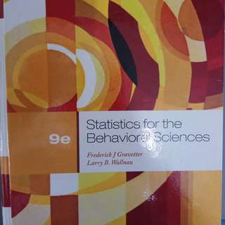 NTU HP1100 / HP2100 Textbook - Statistics for the Behavioral Science (Hard copy + soft copy)