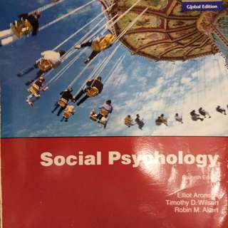 NTU HP2400 Social Psychology Textbook (Hard copy + soft copy)