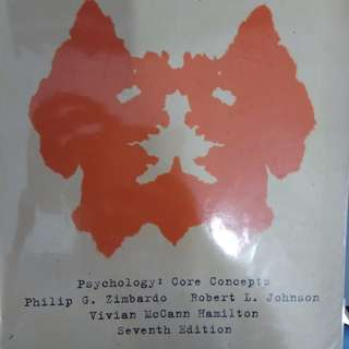 (Sold)NTU HP1000 Textbook - Psychology Core Concepts (Hard copy + soft copy)