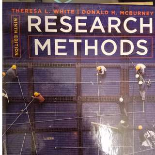 NTU HP1100 Textbook - Research Methods