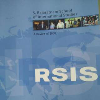 RSIS S.Rajaeatnam School Of International Studies Research Teaching Networking