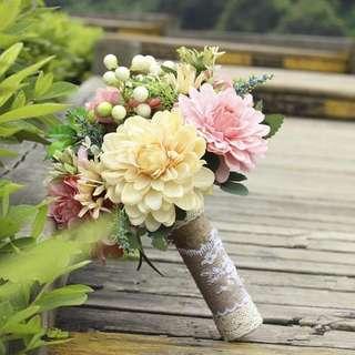 新娘花球 仿真花