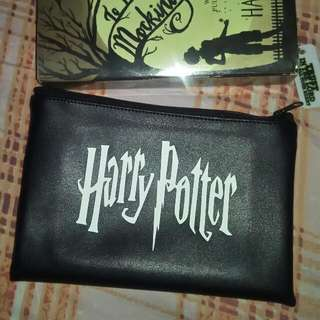Harry Potter Logo Leather Pouch