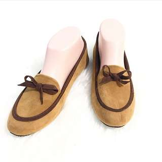 NEW velvet brown loafers Size 38