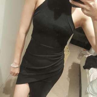 Black Uneven Dress