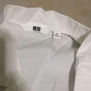 uniqlo white long sleeve