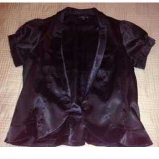 Classy black t-shirt blazer