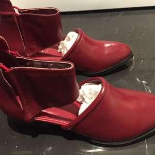 全新✨鬆緊紅中筒靴