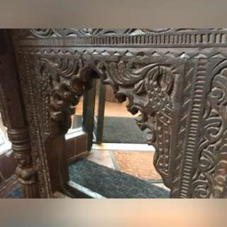 Solid Wood Hand Carved Mirror