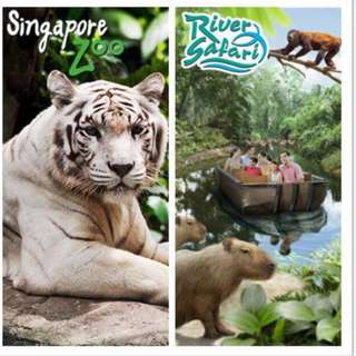Singapore Zoo/ Night Safari/ Jurong Bird Park/ River Safari