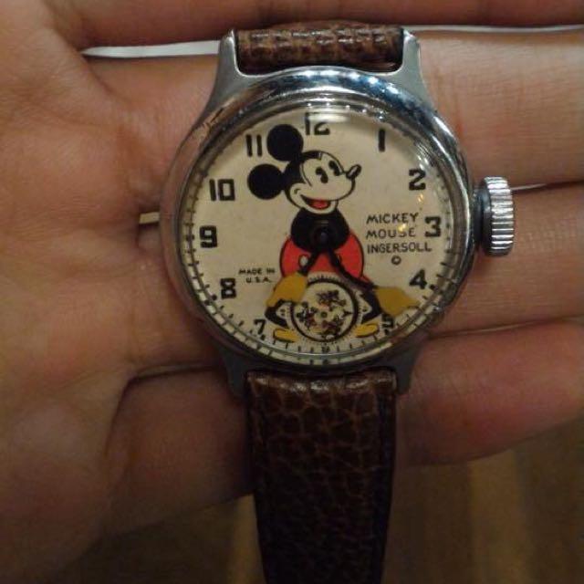 1933s迪士尼美國米老鼠卡通機械錶