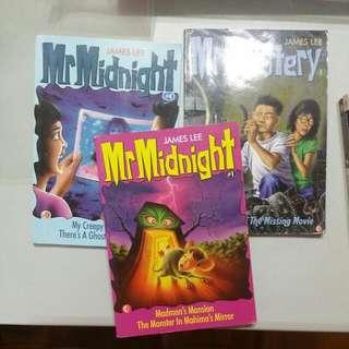 Mr Midnight Book 1,2 & 4
