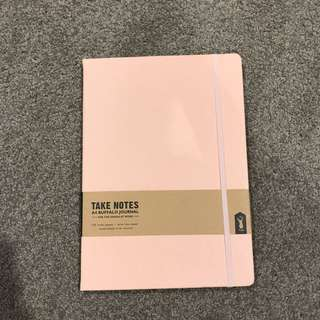 Typo A4 Pastel Pink Buffalo Hardcover Notebook