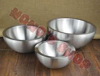 🚚 [Nono] 304 不銹鋼 雙層 沙拉碗 碗 盆 分子 液態氮 冰淇淋碗