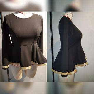 High Low Peplum Blouse (More Colours ➡)