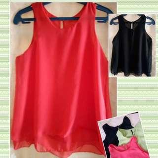 Silk sleeveless