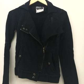 DISKON 50% Black Biker Jacket