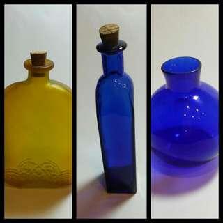 (二手)彩色香薰瓶/彩色玻璃瓶 (3個一起買 200元含運)