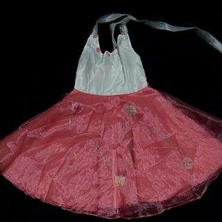 Pink formal halter dress for kids