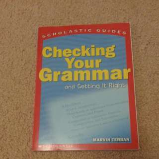 """Checking Your Grammar And Getting It Right"""