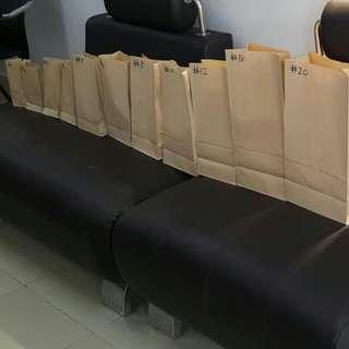 Kraft Paper Bag Bakery Grocery Bleached Kraft