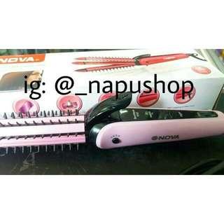 Nova Catok Lipat 3in1 - Curly - Wavy - Straight - Pink