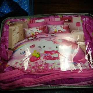Hello Kitty Blanket And 2pillow Case