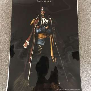One Piece, Pirate King, Gold D Roger Poster