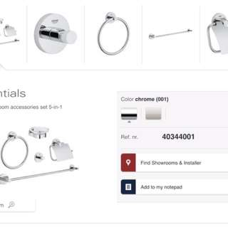 Grohe 5 in 1 Accessories Set
