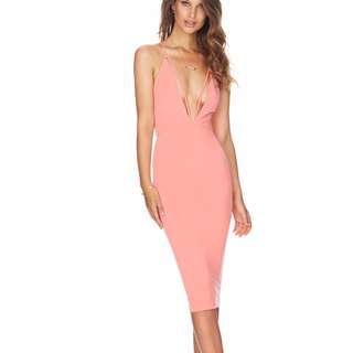 NOOKIE AUSTRALIA PEACH/PINK DRESS