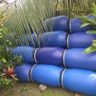 tong biru - blue drum plastic