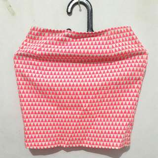 Tribal Mini Pink Skirt
