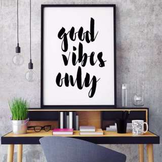 Inspirational Quote Wood Frame Wall Art