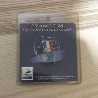全新1998法國FIFA 世界杯紀念扣針