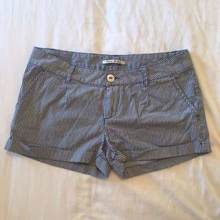 Maison Scotch Blue Pinstriped Sailor Shorts
