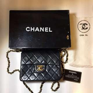 Chanel Vintage Square 17公分 Mini Coco 可換方胖子