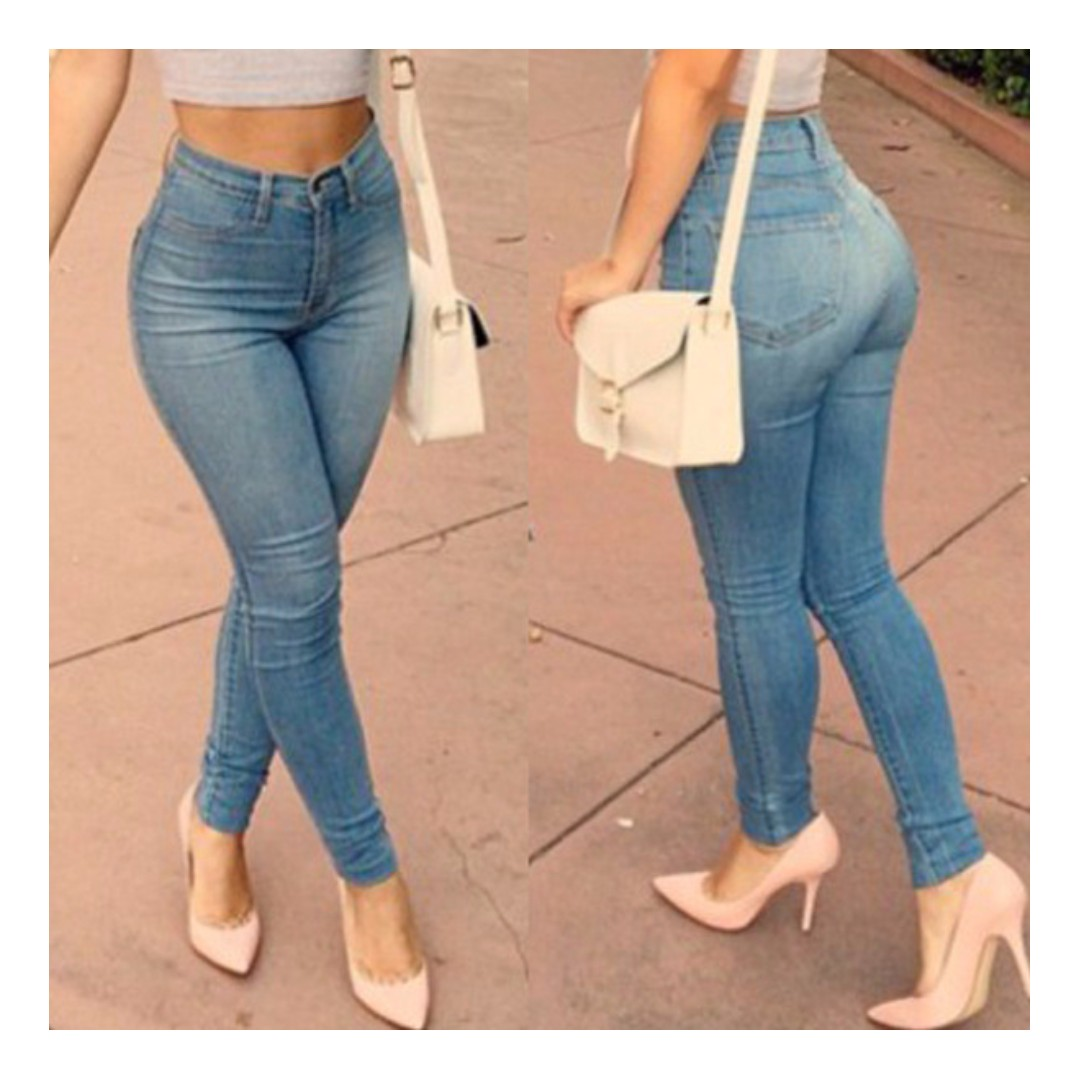 e1ce5fd3ed9c 5370 Sexy Women Denim Skinny Pants High Waist Stretch Jeans Slim ...