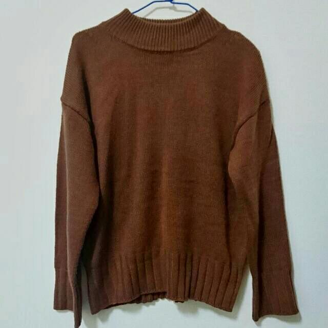 磚紅韓款毛衣