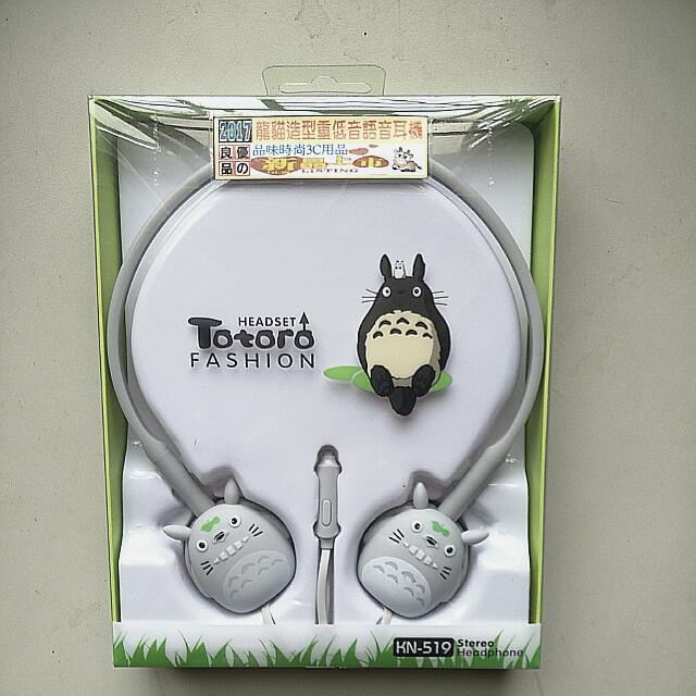 龍貓造型重低音語音耳機