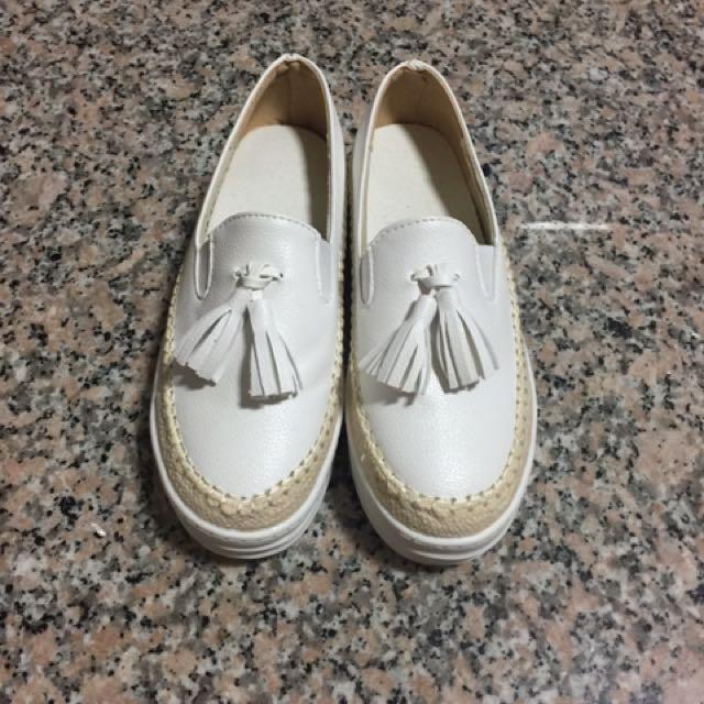 全新厚底樂福鞋